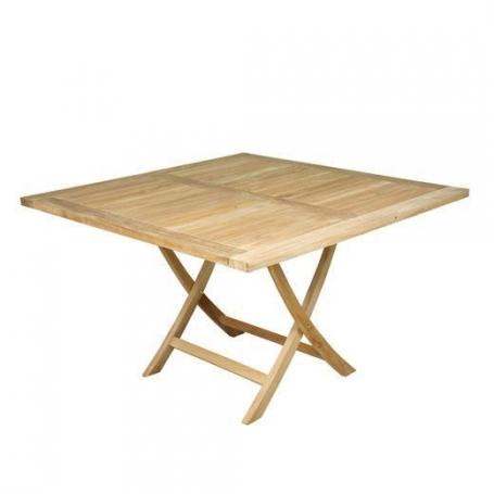 Table De Jardin Pliante En Teck Wexford Piscine Clic