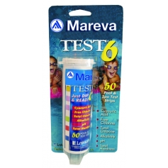 Languettes Chlore pH TH TAC Brome Stabilisant - Mareva