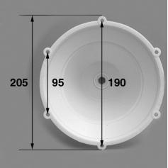 Corps de lampe complet/Projecteur Aquaréva, les 2