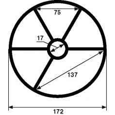 Joint etoile de vanne Praher 2'' (Ø172mm)
