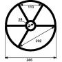 Joint étoile de vanne Praher 3'' (Ø246mm)