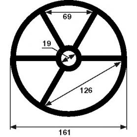 Joint étoile de vanne Hayward 7SP715 (Ø161mm)