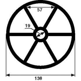 Joint étoile 6 branches de vanne Hayward (Ø138mm)