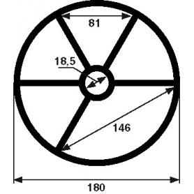 Joint étoile de vanne Midas 2'' (Ø180mm)
