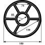 Joint étoile vanne Nautilus jusqu'à 2000 (Ø189mm)