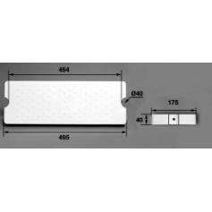Marche 175-D40DC ABS blanc / Echelle Aquamatic