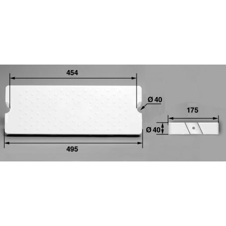 Marche 175-D40IC ABS blanc/Echelle Aquamatic les 2