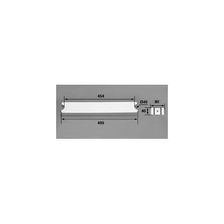 Marche 80-D40 ABS blanc / échelle Aquamatic, les 2