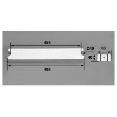 Marche 80-D40 ABS blanc / Echelle Aquamatic, les 2