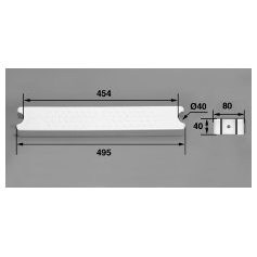 Marche 80-D40 ABS blanc / Echelle Aquamatic, les 3