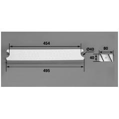 Marche 80-I40 ABS blanc/Echelle HS Aquamatic,les 2