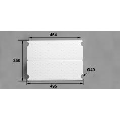 Plateforme complète ABS blanc/Echelle HS Aquamatic