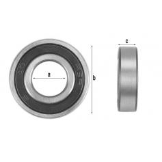 Roulement de moteur 6204.2RS (47x20x14mm)