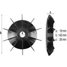 Ventilateur de moteur 1 à 3cv