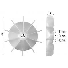 Ventilateur de moteur de pompe Iris