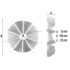 Ventilateur de moteur de surpresseur Euro Com