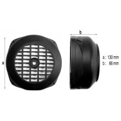 Capot de ventilateur moteur 0,5 à 0,75cv 130x66mm