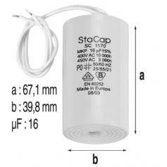 Condensateur 16mF de pompe Eurostar-Magic