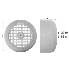 Capot de ventilateur de pompe PSH129-131 (Ø258mm)*