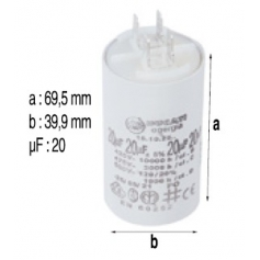 Condensateur 20mF de surpresseur Euro Com 4M