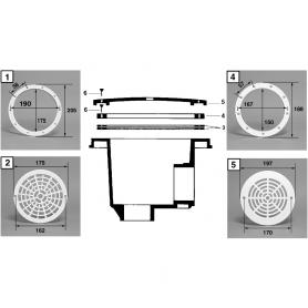 Grille de bonde de fond Cofies N.M. (Øext.197mm)