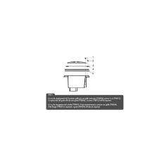 Vis de grille bonde de fond Hayward, les 2(37,5mm)