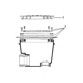 Grille de bonde de fond béton Pool's