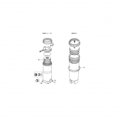Raccord 2''-1''1/2 de filtre Martec 11-15
