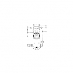Filtre tube de purge d'air de filtre Spaquip