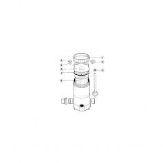 Manomètre complet pour filtre MTi-400/500