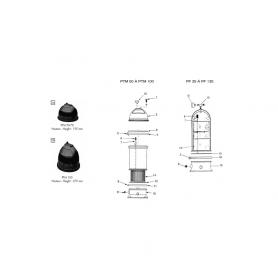 Couvercle Posiflo de filtre PTM50-70*