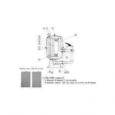 Element Fulflo 2036 centré (larg.25cm haut.63cm)*