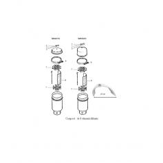 Adaptateur de purge d'air de filtre Purex
