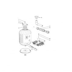 Ecrou+rondelle de couvercle filtre Carlon, les 10