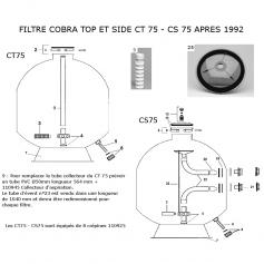 Collecteur d'aspiration 8T/ Filtre top ou side