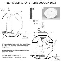 Traversée de paroi Cobra CS75 ancien modèle