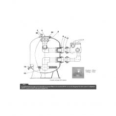 Joint d'adaptateur filtre Jupiter (53.69x5.33mm) - lot de 2