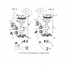 Joint torique union 1'' 1/2 Lacron, les 2(40x10mm)*