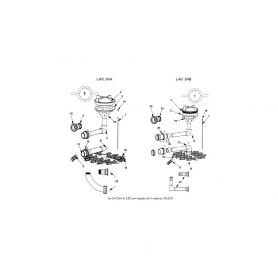 Kit de liaison vanne/filtre Lacron 24B (2'')