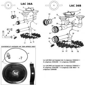 Kit de liaison vanne/filtre Lacron 36A (2'')