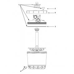 Bouchon purge basse avec joint MTi-400/500, les 2