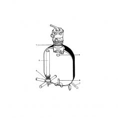 Tube de liaison filtre Tagelus TA40 (495mm)