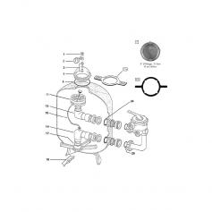 Couvercle 8''1/2 filtre Triton (Ø filetage 215mm)
