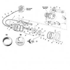 Ecrou de couvercle de pompe Badujet 21-80 (Ø6mm) - lot de 4