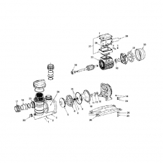 Bobinage+bornier moteur de pompe Atlas (0,75kW)