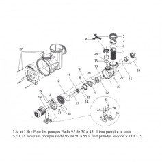 Ecrou de couvercle noir de pompe Badu-95*