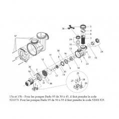Turbine Ø 121mm pompe Badu-95 R40(50hz)R55(60hz)*