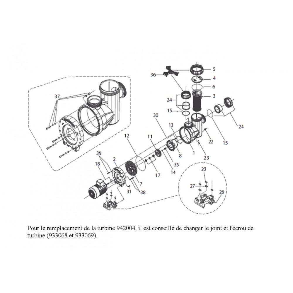 amortisseur de moteur de pompe eurostar 300