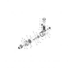 Vis de moteur de pompe Eurostar (8x25mm) - lot de 4