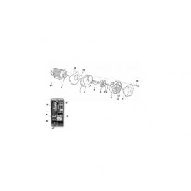 Roulement de moteur 6305.2RS (62x25x17mm)